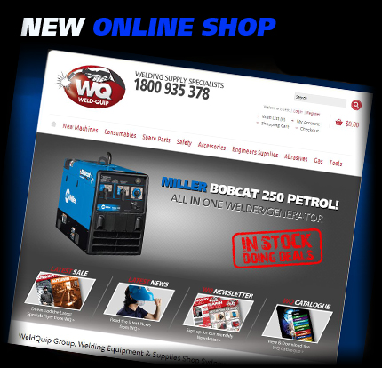 Check out WeldQuips NEW Online Shop for all your Welding & Industrial Needs.